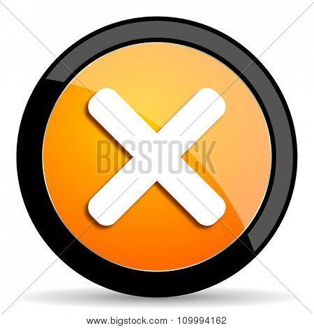 cancel orange icon