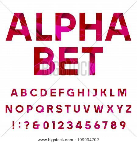 Abstract decorative alphabet vector font.