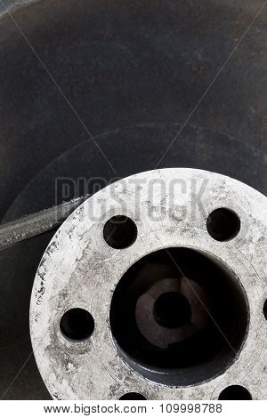 Flywheel With Belt Abstract Background