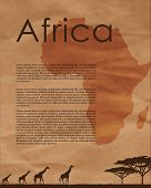 Постер, плакат: Africa Abstract Map
