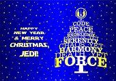 Постер, плакат: Christmas new year tree for real Jedi
