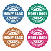 Money back guarantee icon poster