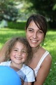 image of niece  - aunt and niece in the garden - JPG