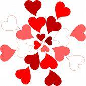 valentine hearts pattern romantic greeting card