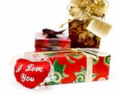 Valentine'S Day  Gifts Isolated On White Background poster