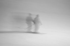 pic of banshee  - two ghost skiers having a good time on a wisconsin ski slope - JPG
