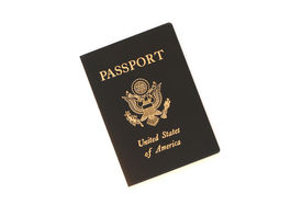 picture of passport template  - an american passport isolated on white background - JPG