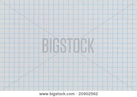 sheet of paper from notebook into cell