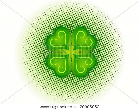 Four Leaf Clover Vector Illustration