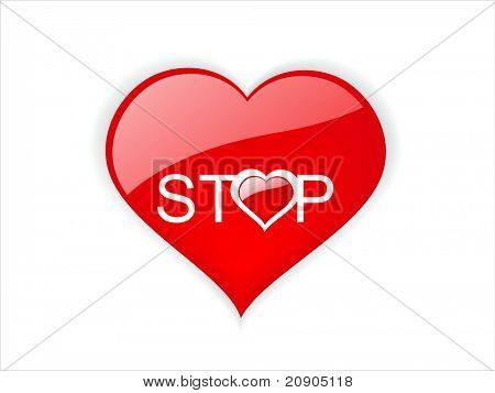 love stop sign vector illustration, romance banned