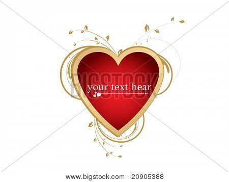 vector illustration of valentines day background