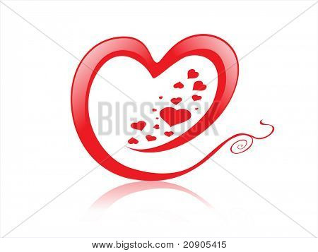 for love hearts vector illustration isolated on white