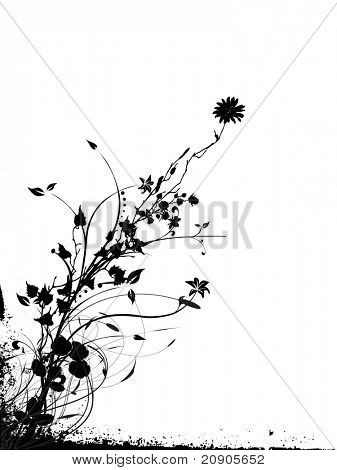 vector illustration of abstract background with decorative elements and floral