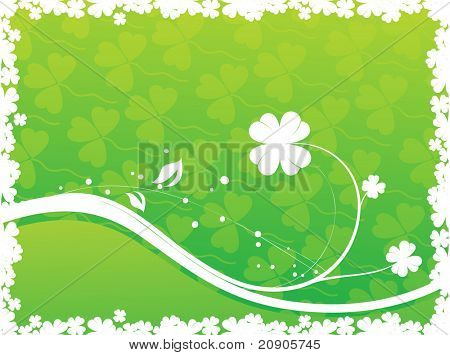 Four leaf clover designs vector illustration