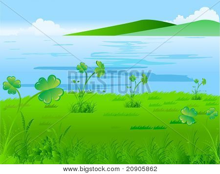 St. Patricks Day vector illustration background