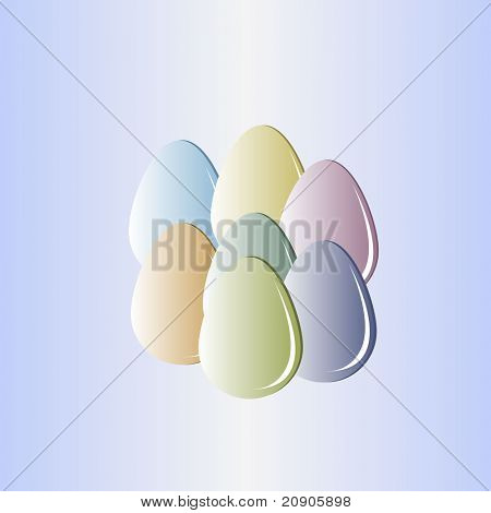 eggs vector illustration abstract background