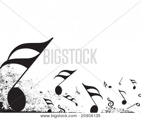 music notes vector illustration isolated on white