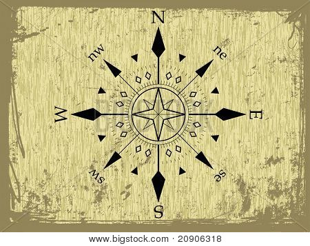 vector grunge vector compass abstract background
