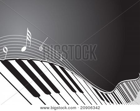 vector illustration of piano abstract background