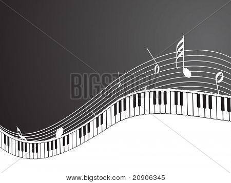 vector illustration of piano background