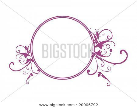 vector circle frame with shiny stars, illustration