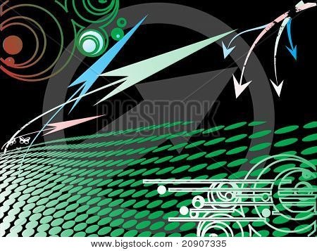 abstract black background with arrow elements, wallpaper