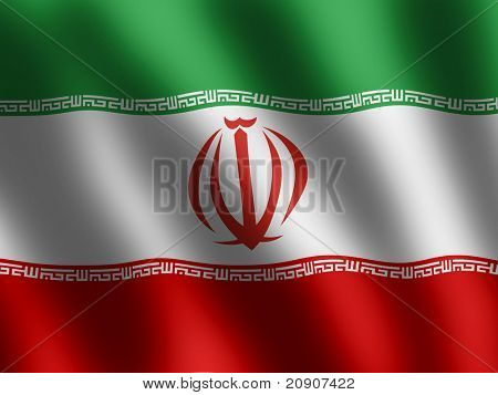 Flag iran waving in wind textile texture pattern