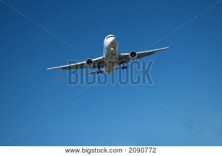 Airliner In Blue Sky