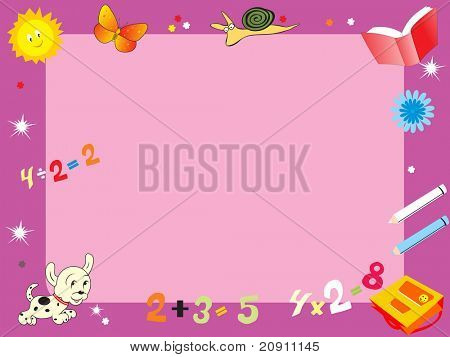 abstract education frame, illustration