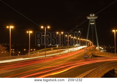 Bratislava In The Night - Bridge Of Snp