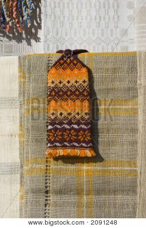 Handmaded Carpet And Mitten.