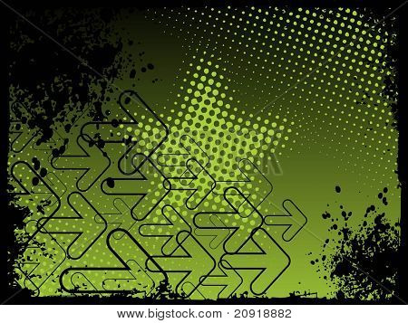 abstract wallpaper with grunge and arrows, vector illustration