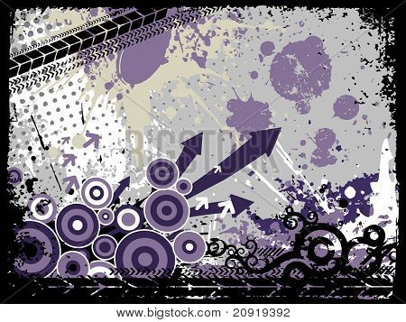 background of arrows and fancy circles, vector illustration