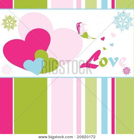 abstract colorful valentine card