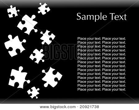 abstract black background with mosaic text