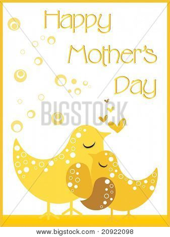 lovely mother day background, abstract illustration