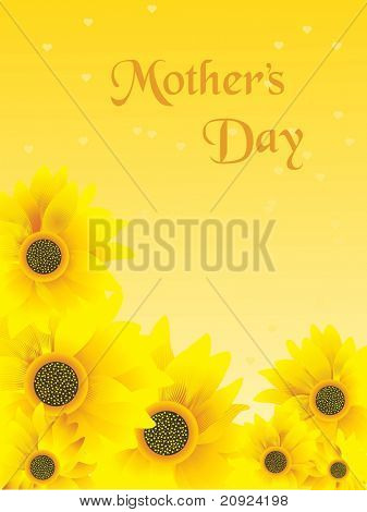 sunflower with mother day card