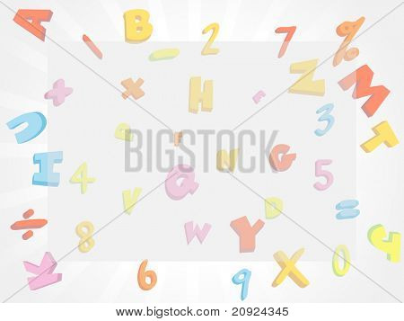 kids learning chart vector