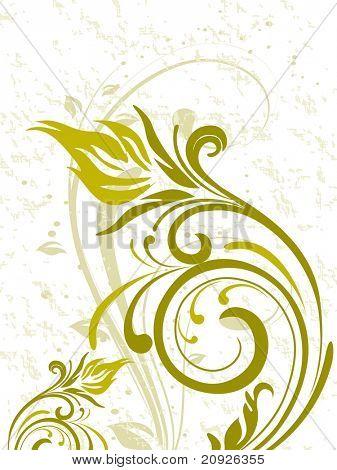 fundo floral elegante, com obras de arte