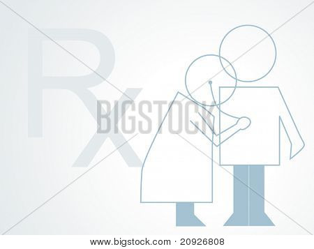 medical rx background with doctor examine patient