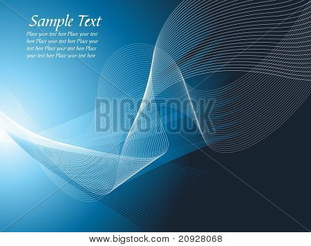 Vector illustration abstract background made of blue waves