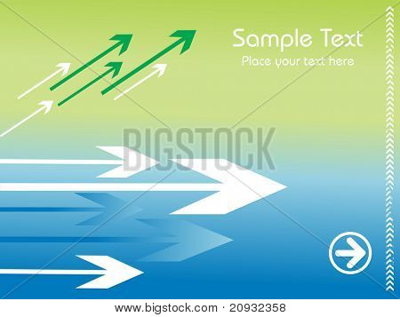 direction of movement vector illustration