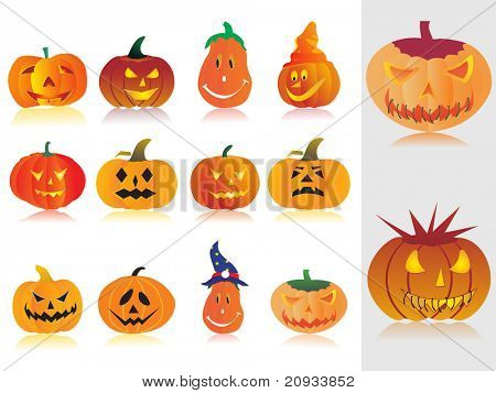 abstract background with concept of halloween pumpkin