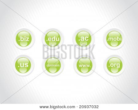 serie icono verde de Web 2.0