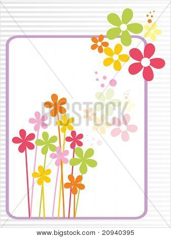 beautiful colorful blossom pattern mother day greeting