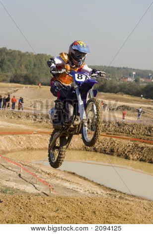 Jump At Finish Line