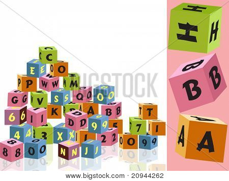 abstract kid education background, vector illustration