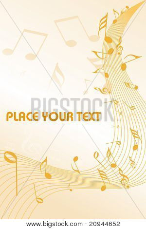 abstract background with musical notes, illustration