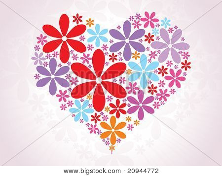 vector romantic background for valentine day