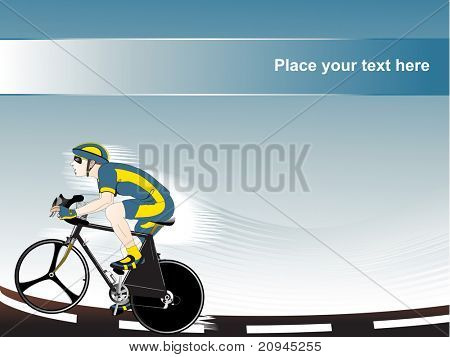 bicyclist vector illustration